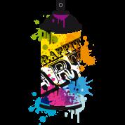 Tee shirt une bombe a rosol dans un style de graffiti - Bombe de graffiti ...
