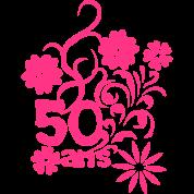 D bardeur 50 ans fleur anniversaire spreadshirt for Image bouquet de fleurs 50 ans
