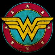 Vintage wonder woman logo