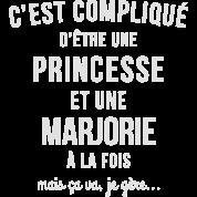 Tee shirt tee shirt princesse pr nom marjorie spreadshirt - Prenom marjorie ...